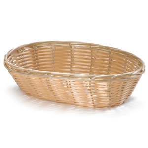 Handwoven Oval Basket Natural 9 x 6 x 2.25inch