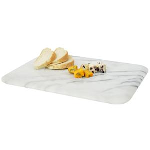 Marble Art Rectangular Board White