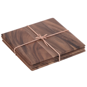 Tuscany Acacia Square Table Mats 25cm