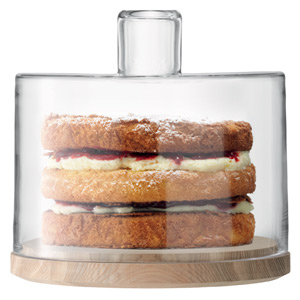 LSA Lotta Cake/Cheese Dome with Ash Base 25.5cm