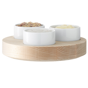 LSA Lotta Condiment Set with Ash Base 17cm