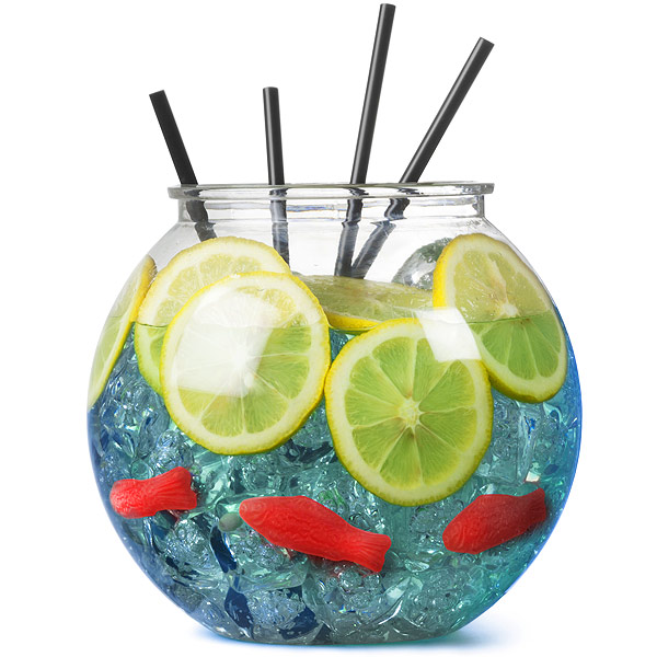 Plastic cocktail fish bowl 3ltr cocktail for Restaurants with fish bowl drinks near me
