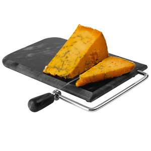 Marble Art Cheese Board with Wire Cutter Black