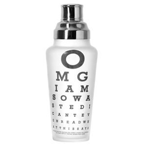 Wild Eye Designs Cocktail Shaker Eye Chart