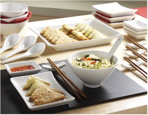 25 Piece Oriental Set Drinkstuff & Asian Style Dinner Plates | Shapeyourminds.com