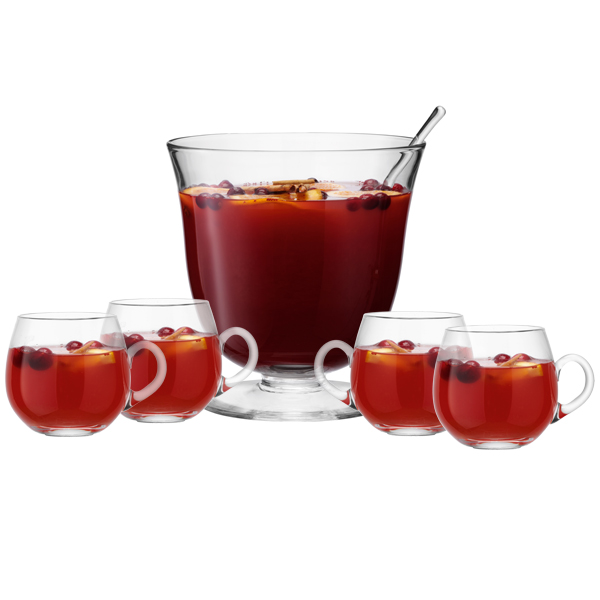Lsa serve punch bowl set lsa punchbowl glass punch bowls for Restaurants with fish bowl drinks near me