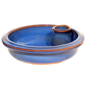 Dolores Terracotta Olive Dish Blue