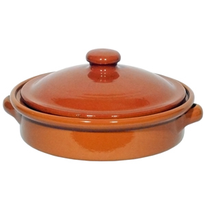 Emilio Terracotta Round Dish with Lid 20cm