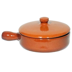 Emilio Terracotta Deep Pan with Lid Brown 15cm