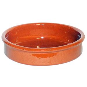 Emilio Terracotta Rock Hard Round Dish Brown 11cm