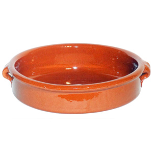 Emilio Terracotta Rock Hard Round Dish Brown 20cm