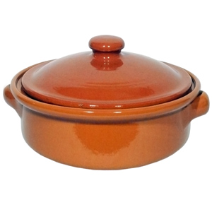 Emilio Terracotta Deep Dish with Lid Brown 13cm