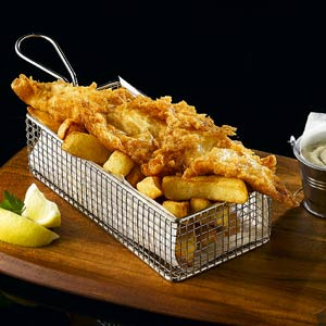 Stainless Steel Rectangular Fryer Serving Basket 21.5 x 10.5 x 6cm