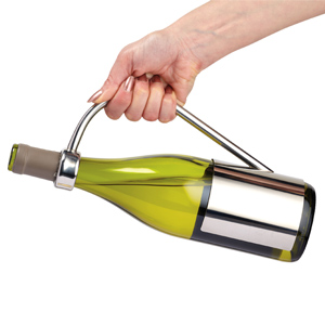 Connoisseur Deluxe Stainless Steel Wine Bottle Holder & Pourer