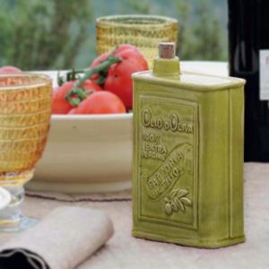 Olive Oil Cruet Green