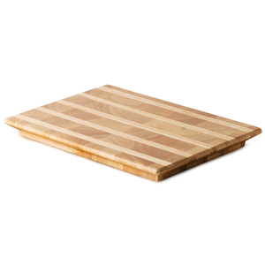Wooden Serving Board Endgrain Strip 25 x 35 x 2.5cm