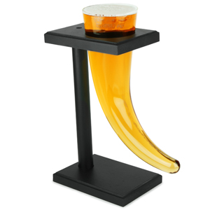 Viking Beer Horn Glass with Stand 17.5oz / 500ml