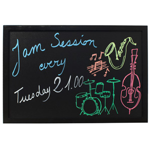 Securit Wall Chalk Board 40 x 60cm