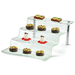Cristal 4 Step Waterfall Display Tray