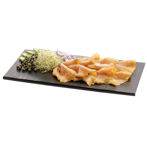 Frostone Melamine Display Tray Black 12.75 x 6.75inch