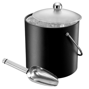 Elia Insulated Ice Bucket with Scoop Black 3ltr