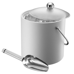 Elia Insulated Ice Bucket with Scoop White 3ltr