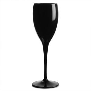 Polycarbonate Champagne Flutes Black 6oz / 170ml