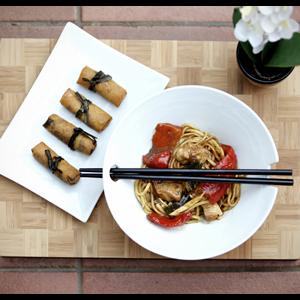 Pure Oriental Bowl and Chopstick Set
