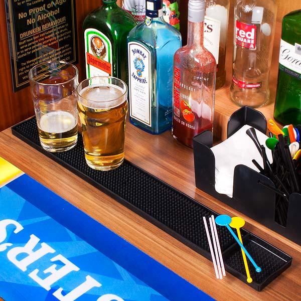 Rubber Bar Mat 24inch Bar Rail Runners Fingertip Bar Mat