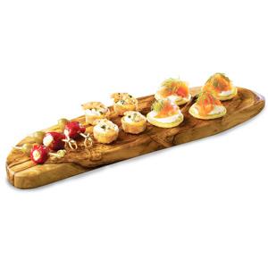 Genware Olive Wood Rustic Platter 45 x 13cm
