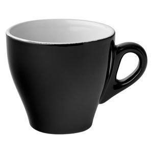 Midnight Cappuccino Cups Black 5.5oz / 160ml