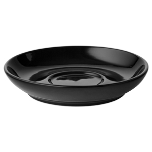 Utopia Cappuccino Coupe Saucers Black 14cm