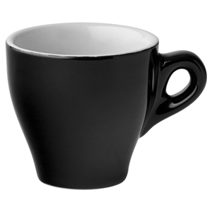 Utopia Espresso Cups Black 2.5oz / 80ml