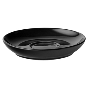 Utopia Espresso Coupe Saucers Black 12cm