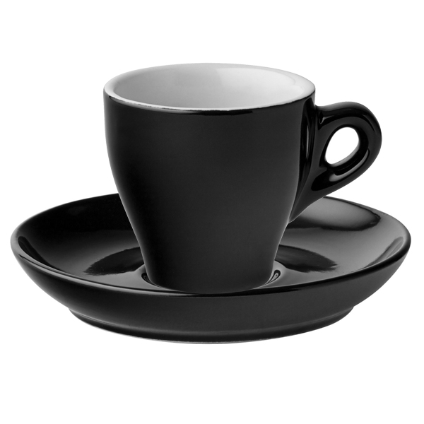 Midnight Espresso Cups Saucers Black 80ml
