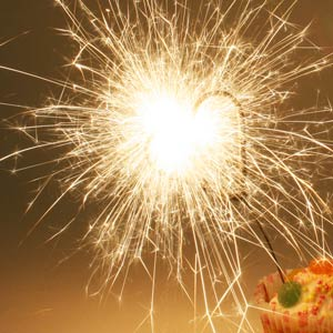 Indoor Heart Sparklers 6inch