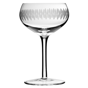 Retro Coupe Engraved Champagne Saucers 7.7oz / 220ml