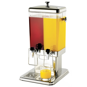 Double Juice Dispenser With Ice Core 400oz / 11.4ltr