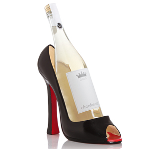 Black Shoe Wine Bottle Holder