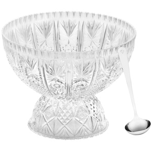 Crystalware Punch Bowl and Ladle Set
