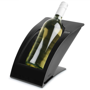 WICE Wine Bottle Cooler & Warmer Black Gloss