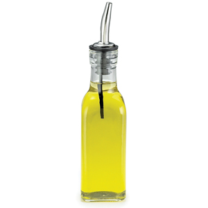 Oil & Vinegar Bottle with Stainless Steel Pourer 6.3oz / 177ml