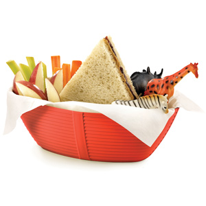 Venetian Oval Serving Basket Red 9.25 x 5.75 x 3inch