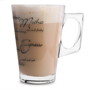 Script Latte Glasses 8.5oz / 240ml