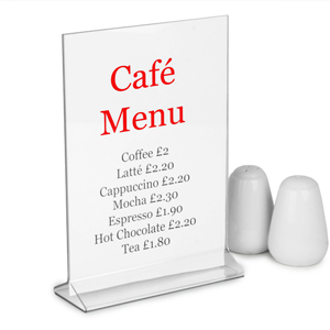 Perspex Vertical Menu Holder A5