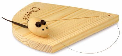Drinkstuff - Cheese Board With Mouse Shaped Wire Cutter