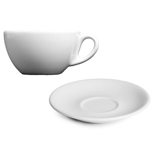 Royal Genware Italian Espresso Cups & Saucers 3oz / 90ml