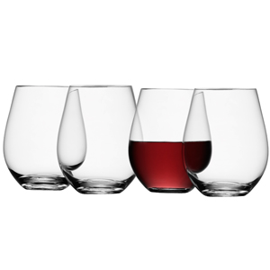 LSA Wine Collection Stemless Red Wine Glasses 18.7oz / 530ml