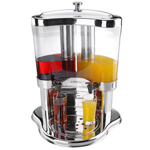 Sunnex Half Moon Twin Juice Dispenser 352oz / 10ltr