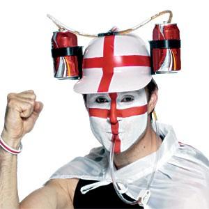 Drinkstuff.com - England Thirst Aid Helmet Football Drink World Cup 2006 Beer Hat Homer Soccer Footie Uk Buy
